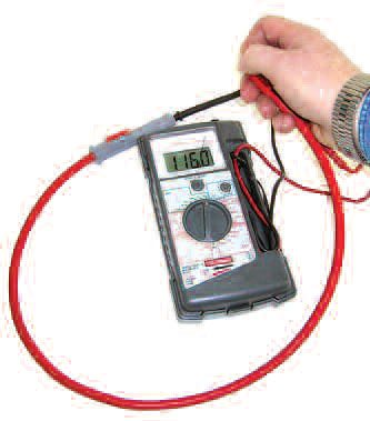 A decent multimeter such as this can be had from your local parts store for as little as $20. It establishes the resistances of the plug cables.