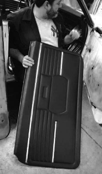 Though door panels are built to withstand abuse and wear, water damage or the occasional tear can warrant replacing them. Many times they simply come up missing in a project car. Fortunately, the aftermarket has a wide range of reproduction door panels with the correct dielectrically stamped patterns.