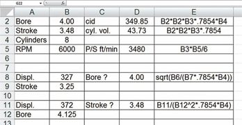 How to Build an Engine Math Spreadsheet