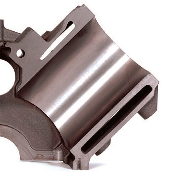 This Dart block's thicker cylinder walls stabilize the cylinders and promote superior ring seal under high cylinder pressures and elevated engine speed.